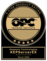 KEPServerEX received OPCTI's 5 Star Award